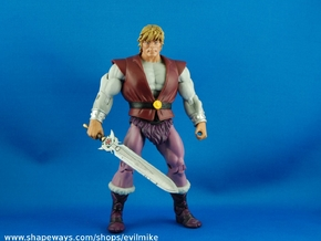 200X Cartoon Powersword Adam in White Strong & Flexible Polished