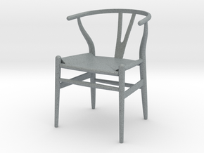 1:12 Chair Wishbone in Polished Metallic Plastic