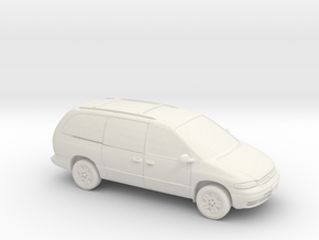 1/87 1995-2000 Plymouth Grand Voyager in White Natural Versatile Plastic