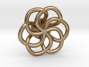 Orecchino Intreccio Fiore Come Anello in Polished Gold Steel