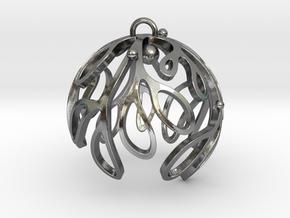 Mistletoe Ornament in Polished Silver