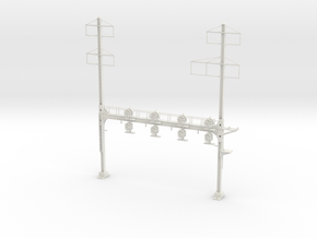 HO Scale PRR W-signal Beam 4 Track  W 2-3 PHASE R in White Natural Versatile Plastic