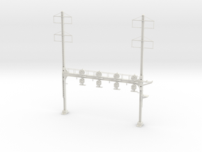 HO Scale PRR W--signal Beam 4 Track  W 2-2 PHASE R in White Natural Versatile Plastic