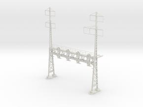 HO Scale PRR W-signal LATTICE 4 Track  W 2-3 PHASE in White Natural Versatile Plastic