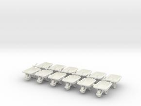 Wheelbarrow 01. HO Scale (1:87) in White Natural Versatile Plastic