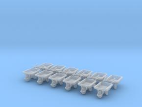 Wheelbarrow 01. HO Scale (1:87) in Smooth Fine Detail Plastic