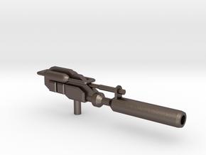 Optimus Prime Powermaster gun in Polished Bronzed Silver Steel