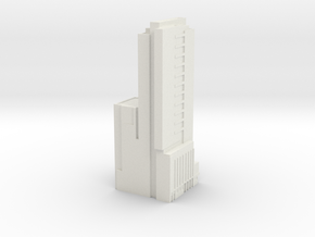 Seattle Knight Building  in White Natural Versatile Plastic