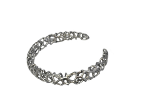 CORALLO Cuff Size M in Polished Silver