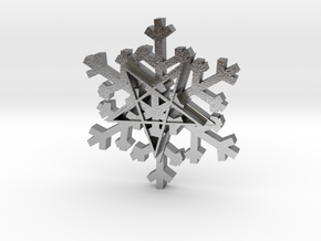 Flashing snowflake in Natural Silver