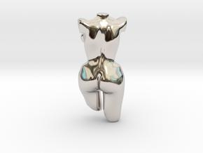 160103_Bernadette_01 in Rhodium Plated Brass