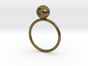 See through rings in Polished Bronze