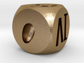 創意骰子 in Polished Gold Steel