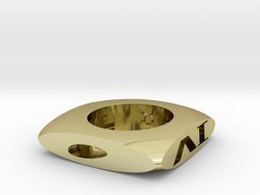 骰子造型煙灰缸 in 18k Gold Plated Brass