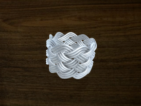 Turk's Head Knot Ring 6 Part X 9 Bight - Size 7.5 in White Strong & Flexible