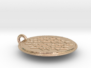 Small Yantra in 14k Rose Gold Plated Brass