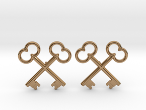 The Society of the Crossed Keys Lapel Pins in Polished Brass
