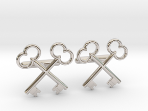 The Society of the Crossed Keys Cufflinks in Rhodium Plated Brass