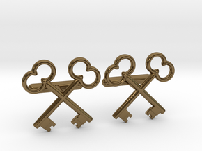 The Society of the Crossed Keys Cufflinks in Polished Bronze