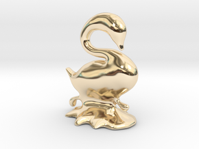 Swan in 14K Yellow Gold
