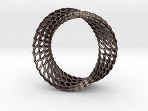 011 in Polished Bronzed Silver Steel