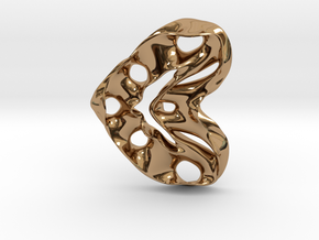 LoveHeart RoyalModel in Polished Brass