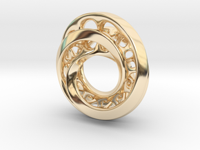 Circle-RoyalModel in 14k Gold Plated Brass