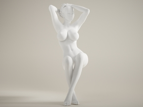 Long Leg Lady scale 1/10 021 in White Strong & Flexible Polished
