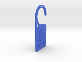 Doorplate in Blue Strong & Flexible Polished