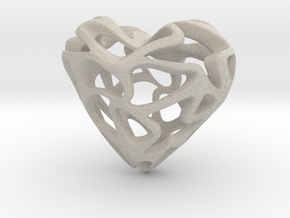 Loveheart in Natural Sandstone