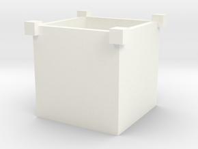 盆栽盒 in White Strong & Flexible Polished