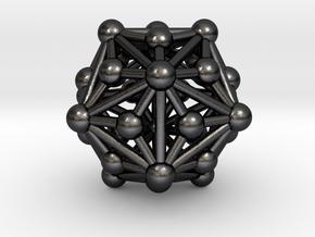 0336 Triakis Icosahedron V&E (a=1cm) #003 in Polished Grey Steel