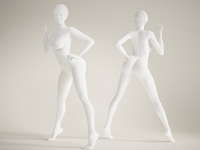 Long Leg Lady scale 1/10 025 in White Strong & Flexible Polished