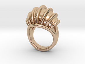 Ring New Way 14 - Italian Size 14 in 14k Rose Gold Plated Brass
