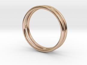 雙層手環 in 14k Rose Gold Plated