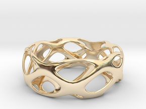 Bracelet Wave Cell Cycle in 14k Gold Plated Brass