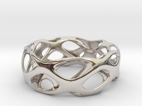 Bracelet Wave Cell Cycle in Rhodium Plated Brass