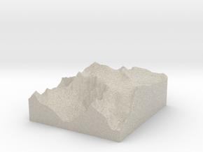 Model of Monte Adamello in Sandstone