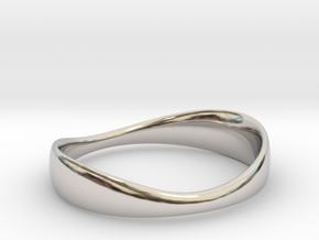 Silverflow Ring 16mm in Platinum