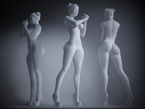 Heels girl 007 Scale 1:24 in Smoothest Fine Detail Plastic