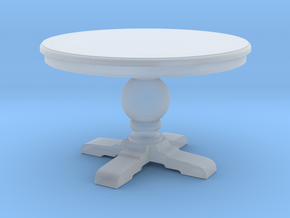 1:48 Round Trestle Table in Smooth Fine Detail Plastic