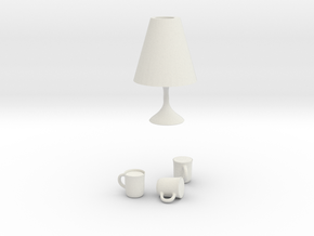 table lamp easy in White Natural Versatile Plastic
