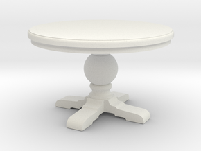 1:24 Round trestle table in White Natural Versatile Plastic