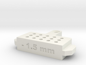 Bleed Block-1.5mm in White Natural Versatile Plastic