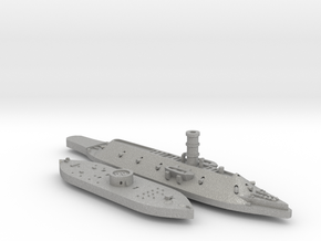 1:1200 Ironclad USS Monitor & CSS Virginia in Aluminum