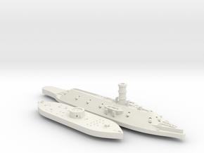 1:1200 Ironclad USS Monitor & CSS Virginia in White Natural Versatile Plastic