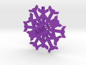 AIMEE Snowflake Christmas Tree Decoration in Purple Processed Versatile Plastic