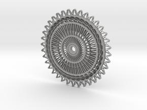 Sunburst Pendant in Aluminum