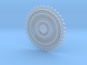 Sunburst Pendant in Smoothest Fine Detail Plastic