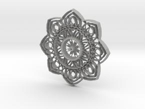 Floral  Pendant  #3 in Aluminum